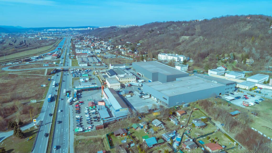administratívno logistické centrum pohľad zhora